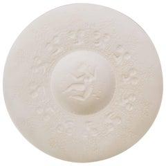 Rosenthal Porcelain Bisque Display Plate by Wiinblad Bjorn