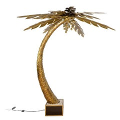 Large Maison Jansen Palm Tree Floor Lamp