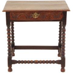 Antique Georgian 18th Century Oak Lowboy Side Occasional Table