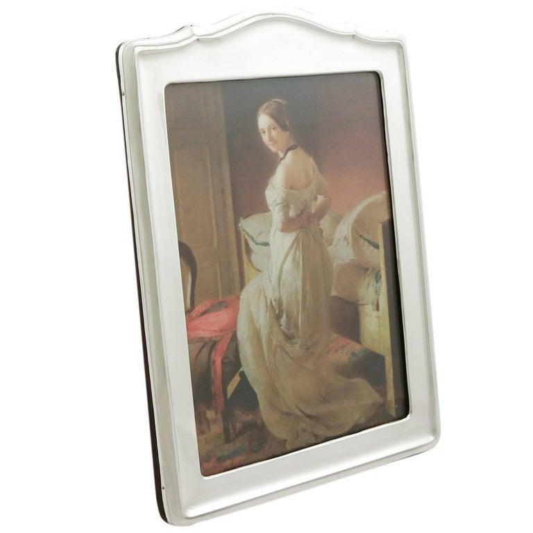 1910s Antique George V Sterling Silver Photograph Frame For Sale