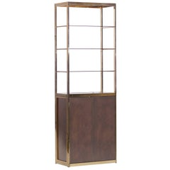 Maison Jansen Copper and Brass Vitrine Display Cabinet