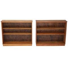 Antique Pair of Quality Adjustable Oak Open Bookcases, circa 1950