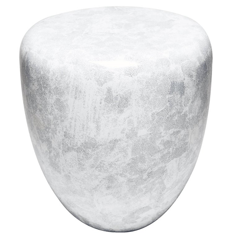 Dot, Side Table or Stool, White Eggshell by Reda Amalou Design, 21st Century For Sale