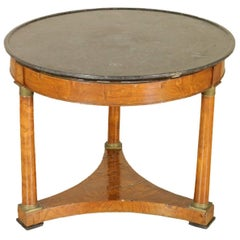 Antique Round Empire Table Manufactured in France, 19th Century