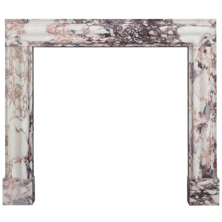 Breccia Medici Marble Bolection Fireplace