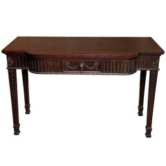 Mid-18th Century Irish Style Mahogany Serving/Side Table, circa 1880