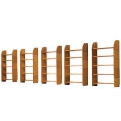Set of Five 'Milani' Solid Pine Bookshelves