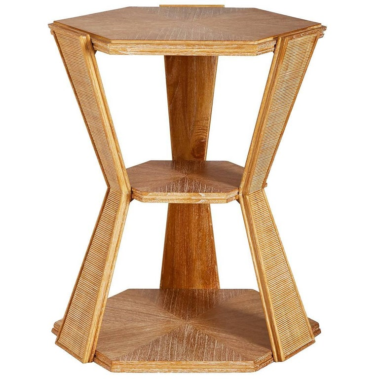 Antwerp Limed Two-Tier Side Table