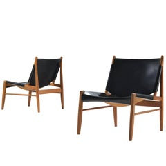 Franz Xaver Lutz 'Chimney' Chair in Black Original Leather