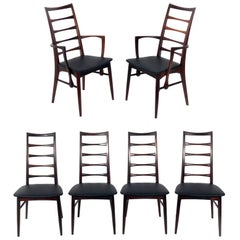 Danish Modern Rosewood Dining Chairs by Niels Koefoed