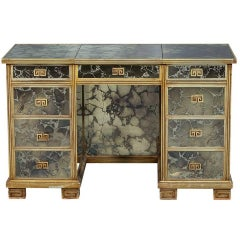 Vintage Antiqued Mirror Vanity Dressing Makeup Table Desk