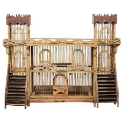 Italian Mid-20th Century Handcrafted Birdcage with Original Finish