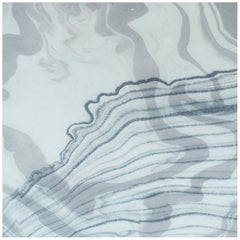 Sumi Flow Wallpaper or Wall Mural in Matte Slate and Blue Lines