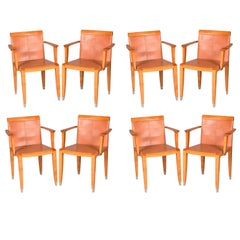 Set of Eight by Chi Wing Lo Aro Chairs for Giorgetti, Italy