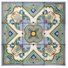 Rosone Maiano Set of Nine Ceramic Tiles