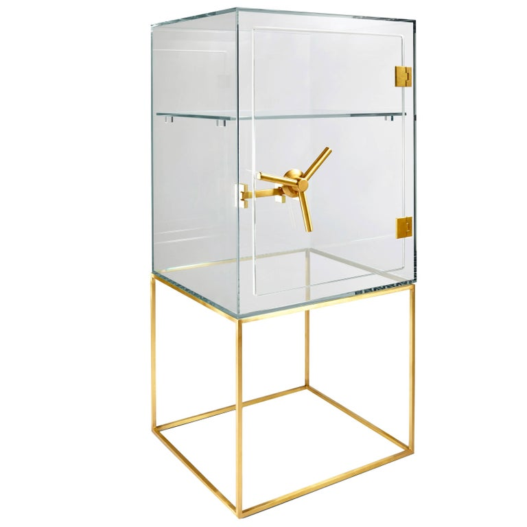 Precious Crystal Safe Storage Cabinet by Ctrlzak for Editions Milano For Sale