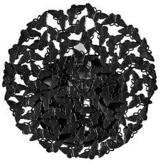 Johnnie Blackened Brass Lost Wax Cast Butterfly Wall Sconce