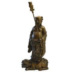Antique Bronze Chinese Immortal Figure