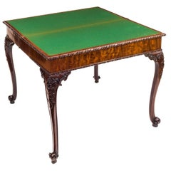 George III Chippendale Mahogany Card Table