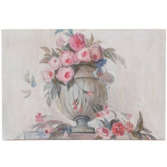 Swedish Art Deco Painting by Helene Herslow Flowers in an Urn 'B'