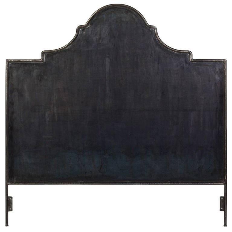 Hand-Crafted Iron Venetian King Headboard