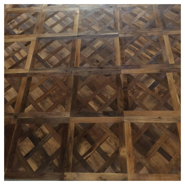 French Solid Wood Oak Parquet Versailles 'Wood 17th-19th Century', France