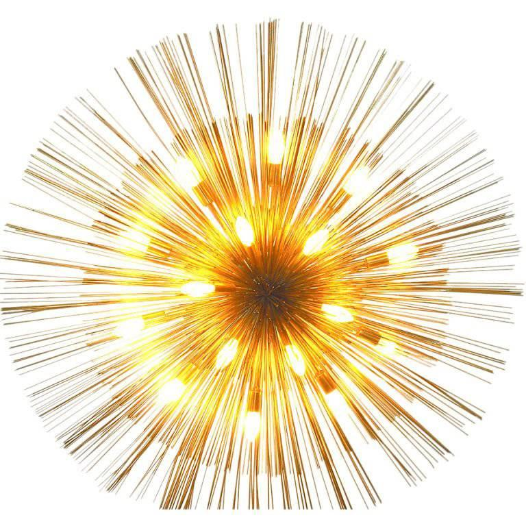 "Grand ""Nest"" Light Sculpture Flush Chandelier, Mid-Century Modern"