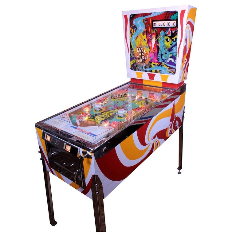 Vintage Arcade Games >> Gottlieb Abra Cadabra, Vintage Pinball Machine 1975, High ...