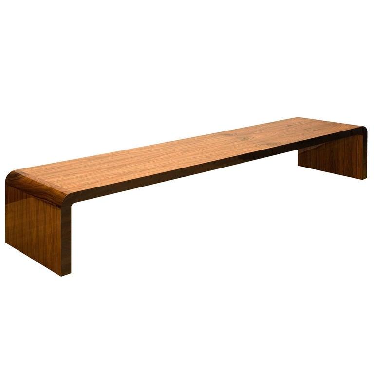 "Vermeil ""Coruna"" Bench Pau Ferro Wood For Sale"