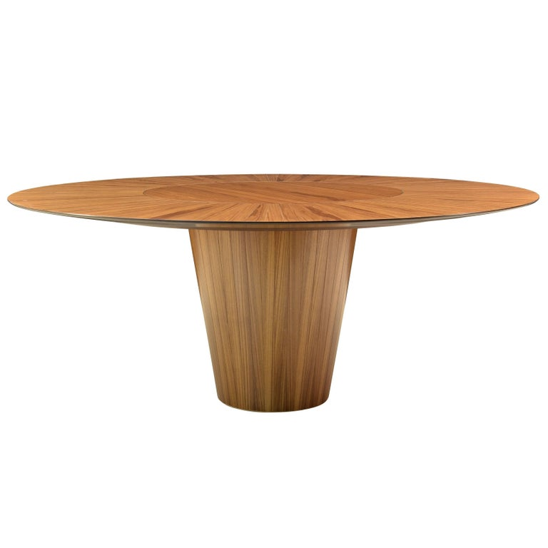 """""""DISCO"""" Contemporary Dining Table in Wood by Pedro Useche For Sale"""