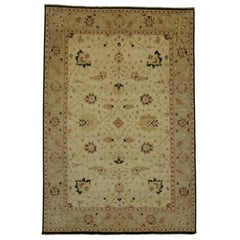 New Modern Mahal Rug with Transitional Style in Light Colors, Gallery Rug