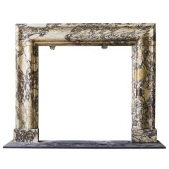 Early 19th Century Breccia Marble Bolection Mantel