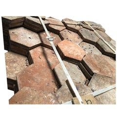 French Antique Terracotta Hexagonal, 18th Century, France