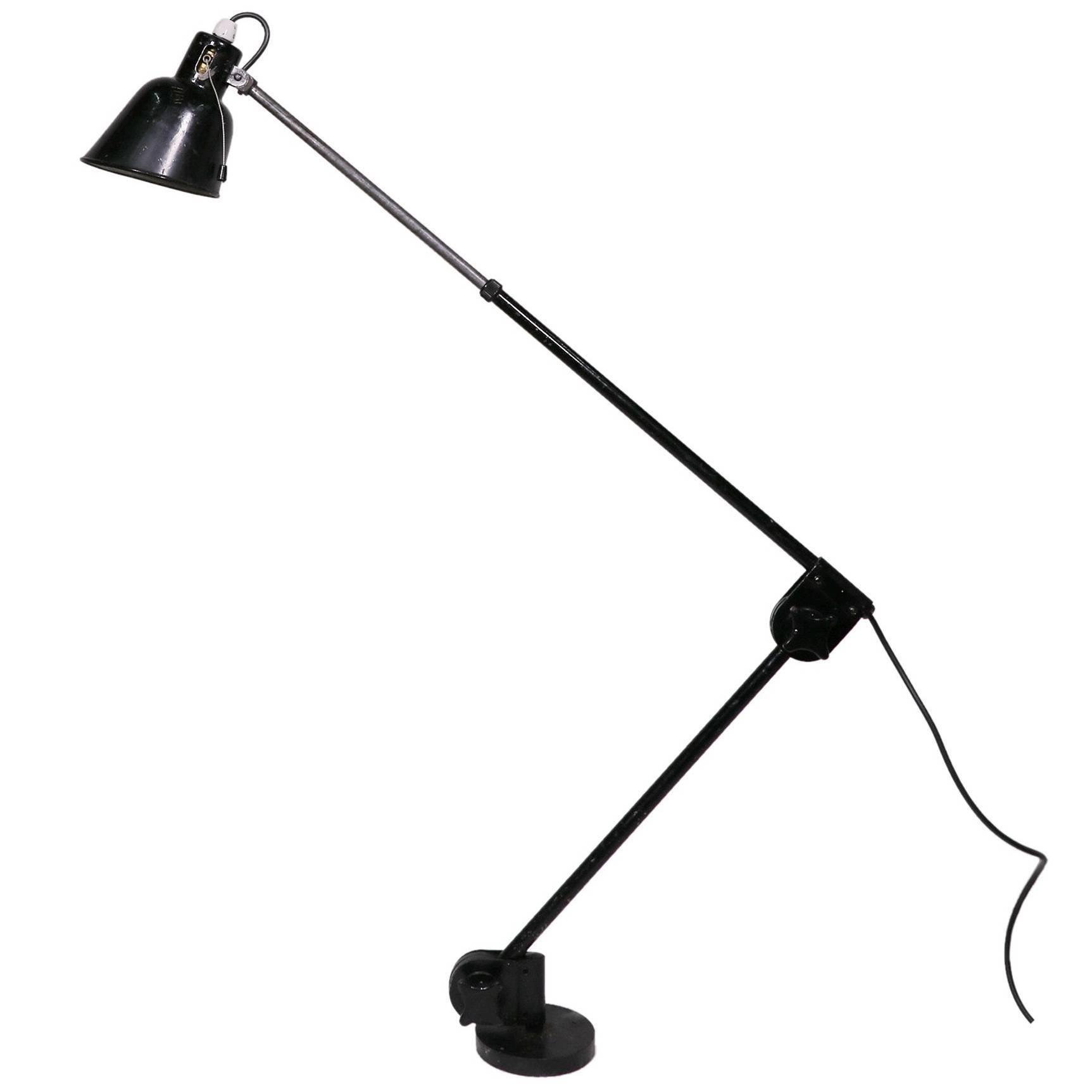 Vintage Industrial Adjustable Articulated Telescopic Task Lamp