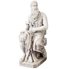 Marble Sculpture of Moses, 19th Century