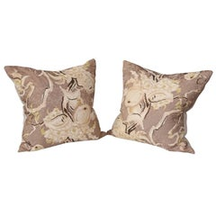Pair of Vintage Silk Cushions