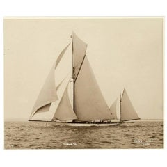 Yacht Sybarite, Early Silver Photographic Print by Beken of Cowes