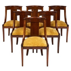"French Empire Set of ""Gondole"" Chairs"