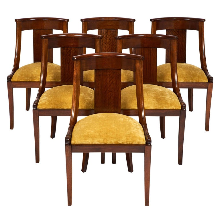 "French Empire Set of ""Gondole"" Chairs For Sale"