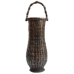 Japanese Bamboo Ikebana Basket