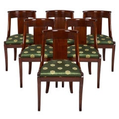 """French Empire Set of """"Gondole"""" Chairs"""