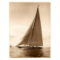 J Class Yacht Sahmrock, Silver Gelatin Photographic Print by Beken of Cowes