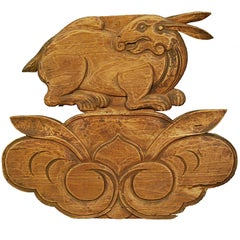 Chinese Carved Rabbit Architectural Ornament