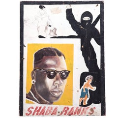 "African ""Shabba Ranks"" Barbershop Sign"