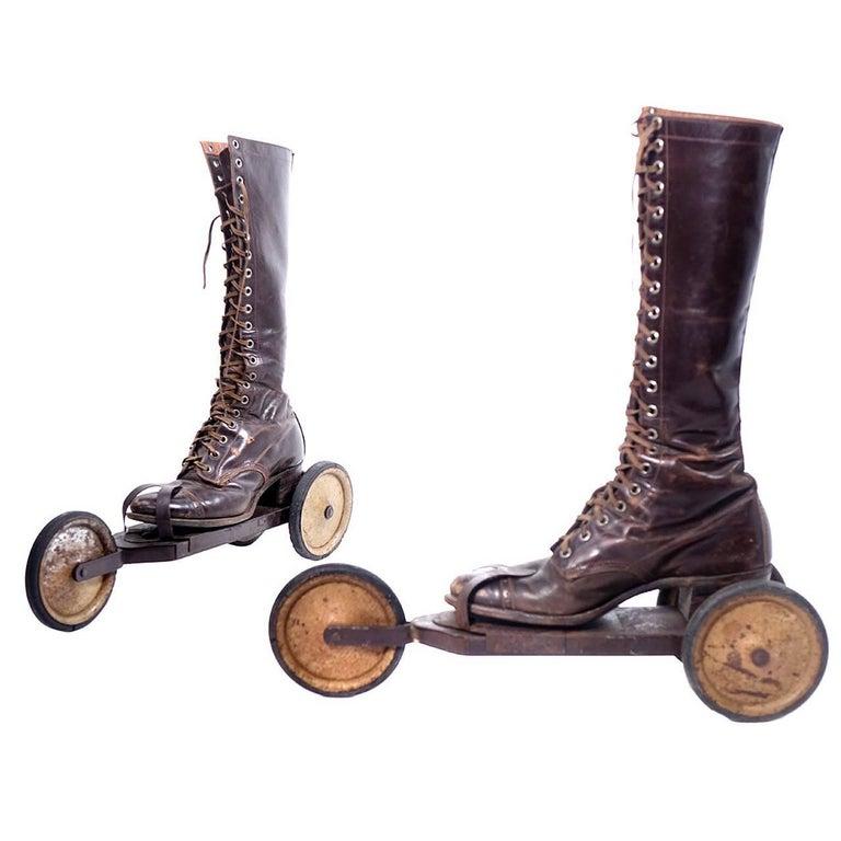 Roller Skates, circa 1910s For Sale