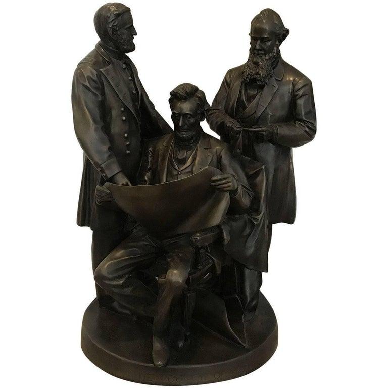 Council of War Bronze Sculptor by John Rogers