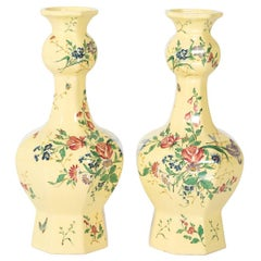 Pair of French Faience Vases