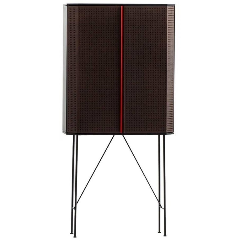Perf Bar Cabinet by Moroso with Diesel in Metal and Wood