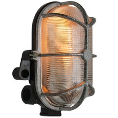 Vintage Industrial Bakelite Holophane Glass Wall Scones Lights (3x)