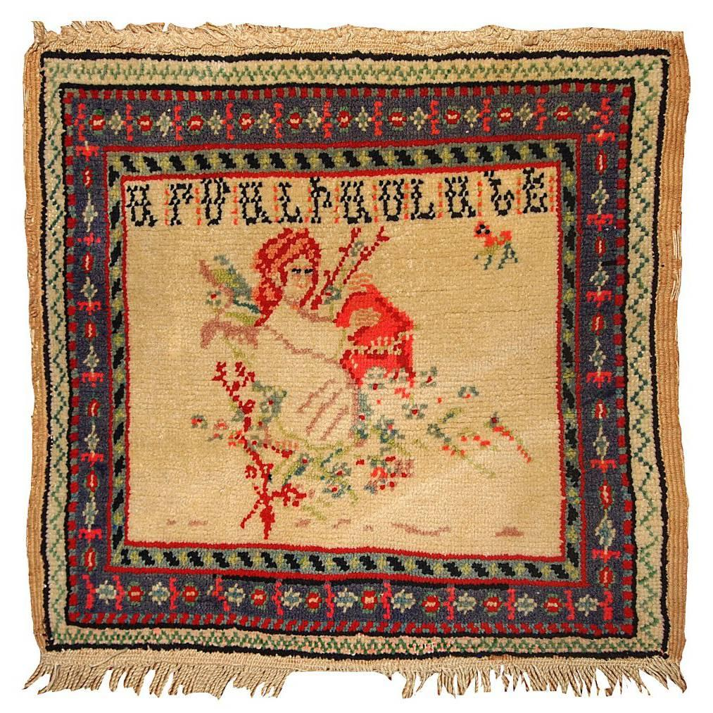 Handmade Antique Collectible Armenian Rug, 1900s